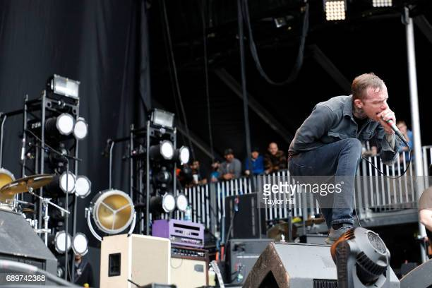 Jacob Bannon of Converge performs during the 2017 Boston Calling Music Festival at Harvard Athletic Complex on May 28 2017 in Boston Massachusetts