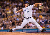 Jacob Barnes of the Milwaukee Brewers delivers a pitch in the sixth inning during the game against the Pittsburgh Pirates at PNC Park on July 20 2016...