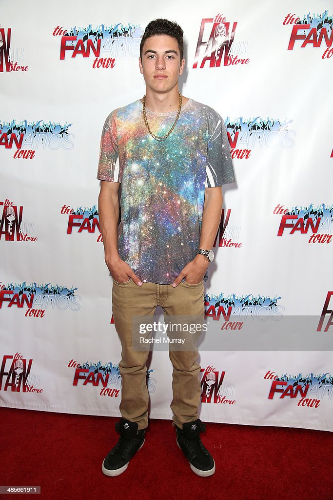 Jacob Bennett arrives at The Fanatics Tour L.A. Show at Infusion Lounge on April 19, 2014 in Universal City, California.