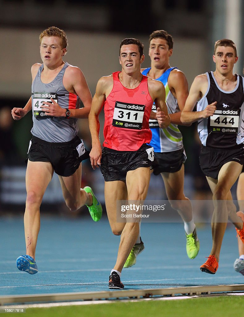 Jacob Birtwhistle of Tasmania competes in the Mens 3000 Meters Under 20 during the Zatopek Classic at Lakeside Stadium on December 8, 2012 in Melbourne, Australia.