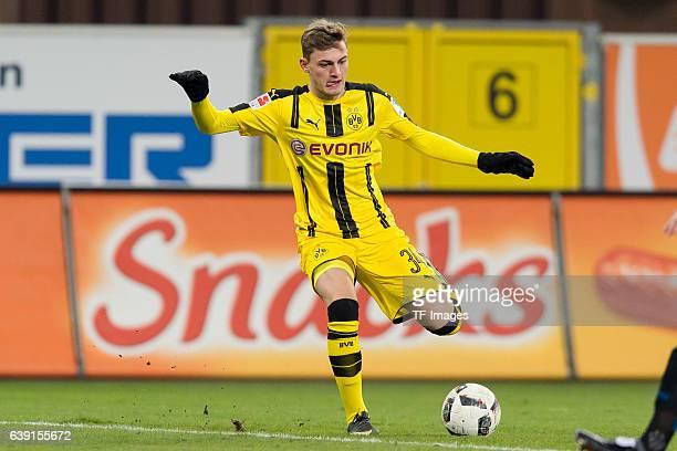 Jacob Bruun Larsen of Dortmund in action during the friendly match between Borussia Dortmund and SC Paderborn at the BentelerArena on January 17 2017...