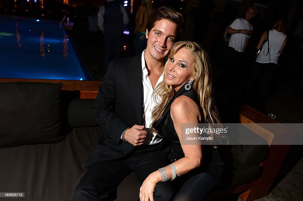 Jacob Busch and Adrienne Maloof attend Star Scene Stealers Event at Tropicana Bar at The Hollywood Rooselvelt Hotel on October 1, 2013 in Hollywood, California.