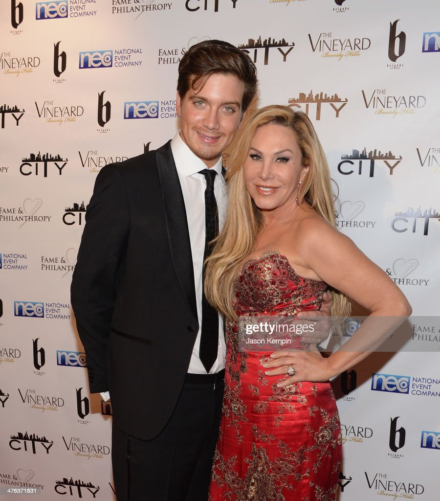 Jacob Busch and Adrienne Maloof attend the Fame and Philanthropy Post-Oscar Party at The Vineyard on March 2, 2014 in Beverly Hills, California.