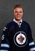 Jacob Cederholm poses for a portrait after being selected 97th overall by the Winnipeg Jets during the 2016 NHL Draft at First Niagara Center on June...