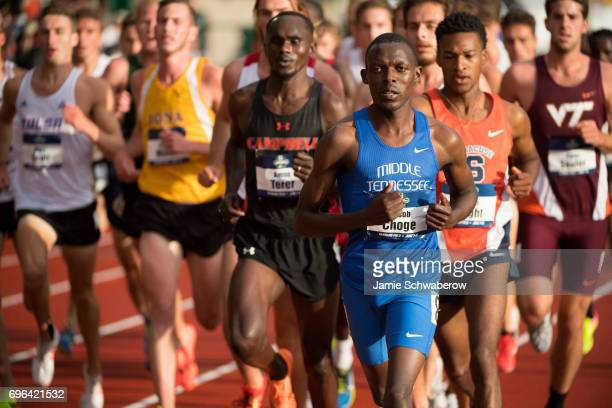 Jacob Choge of Middle Tennessee State University competes in the 5000 meter run during the Division I Men's Outdoor Track Field Championship held at...