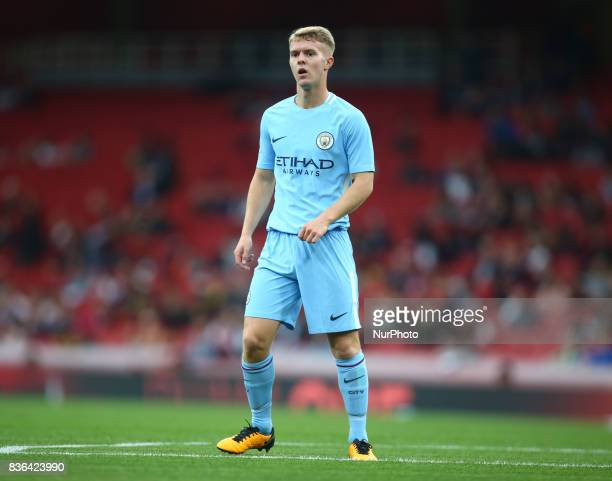 Jacob Davenport of Manchester City Under 23s during Premier League 2 match between Arsenal Under 23s against Manchester City Under 23s at Emirates...