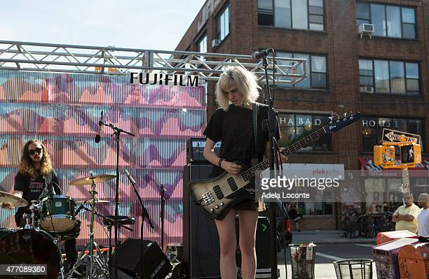 Jacob Faber and Julia Cumming from Sunflower Bean performs at Northside Festival Day 3 on June 13 2015 in the Brooklyn borough of New York City