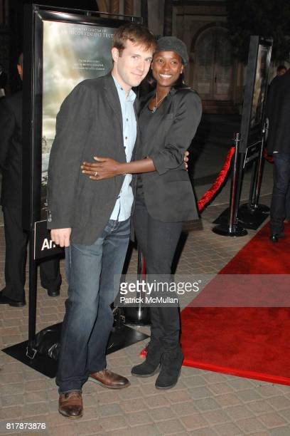 Jacob Fischel and Rutina Wesley attend Waiting For 'Superman' Premiere at Paramount Theatre on September 20 2010 in Hollywood California