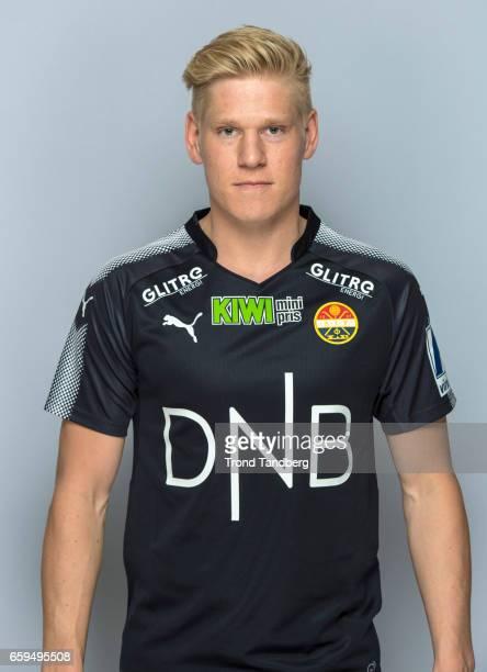 Jacob Glesnes of Team Stromsgodset Fotballklubb during Photocall on March 17 2017 in Drammen Norway