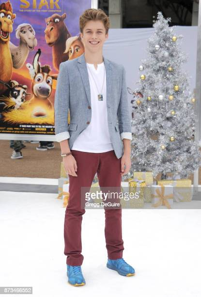 Jacob Hopkins arrives at the premiere of Columbia Pictures' 'The Star' at Regency Village Theatre on November 12 2017 in Westwood California