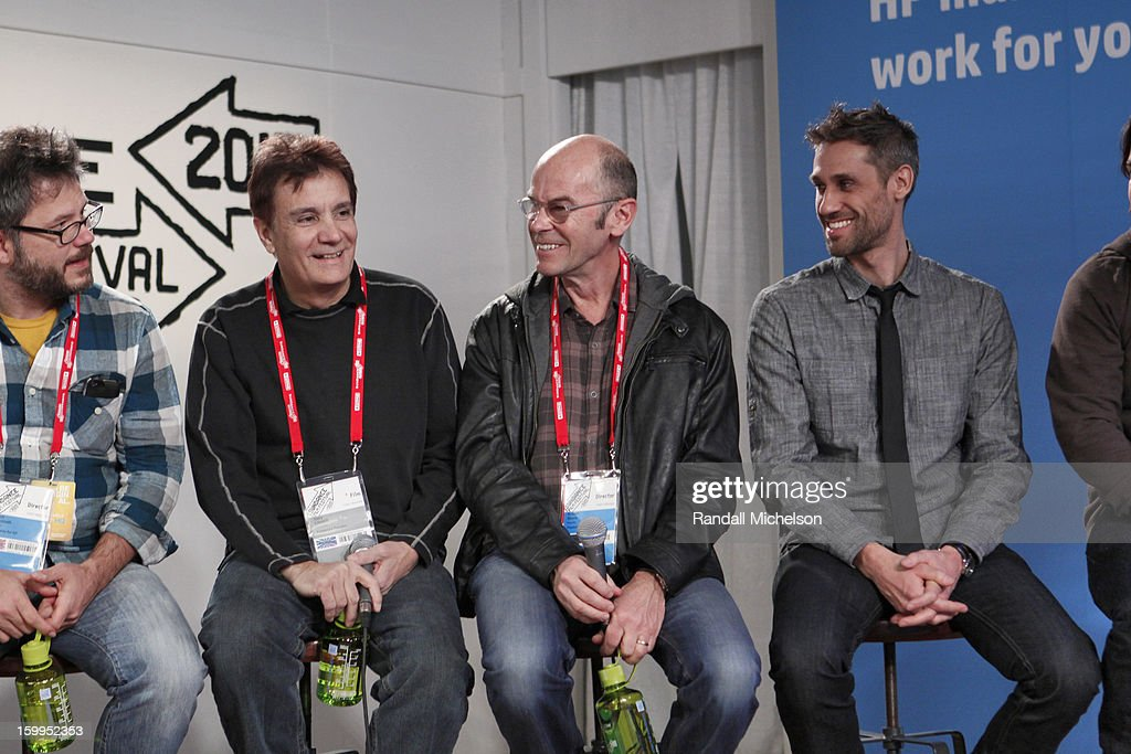 Jacob Kornbluth, Gary Lionelli, Robert Stone and Rob Simonsen attend the BMI Roundtable at Sundance House on January 23, 2013 in Park City, Utah.