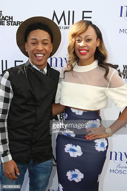 Jacob Latimore and Tish Taylor attend MILF Celebration Of Entertainment Mothers on February 6 2015 in Beverly Hills California