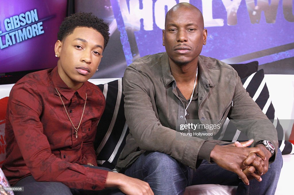 Jacob Latimore and Tyrese Gibson at the Young Hollywood Studio on November 1, 2013 in Los Angeles, California.