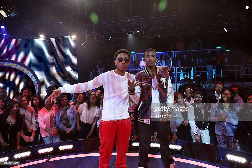 <a gi-track='captionPersonalityLinkClicked' href=/galleries/search?phrase=Jacob+Latimore&family=editorial&specificpeople=5410256 ng-click='$event.stopPropagation()'>Jacob Latimore</a> and Young Marqus visit BET's '106 & Park' at BET Studios on March 11, 2013 in New York City.