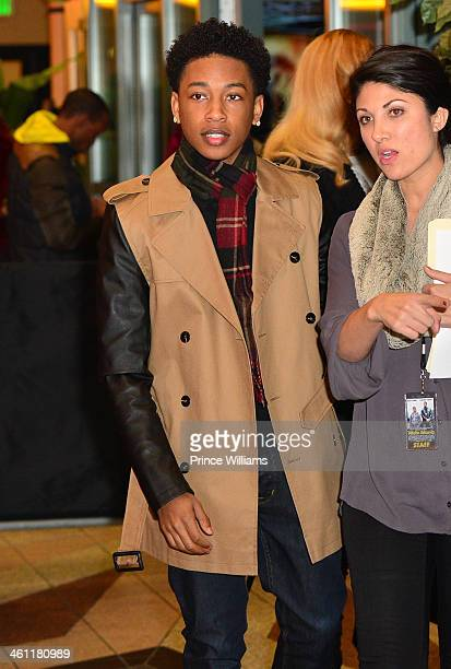 Jacob Latimore attends the 'Ride Along' screening at Regal Atlantic Station on January 6 2014 in Atlanta Georgia