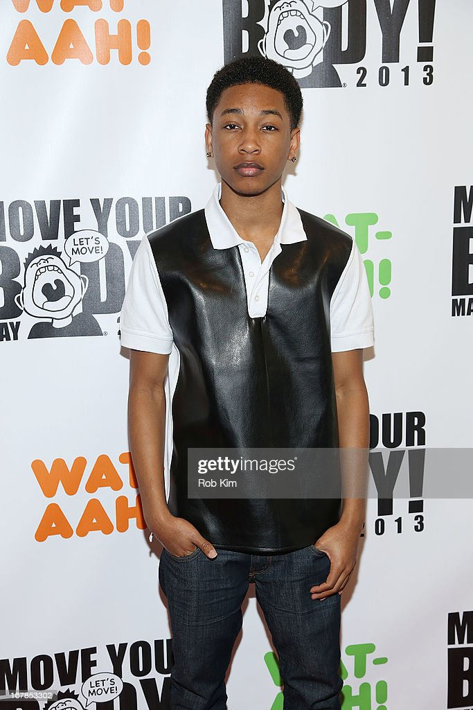 Jacob Latimore attends WAT-AAH! Foundation Move Your Body 2013 Flash Workout at The Avenues World School on May 1, 2013 in New York City.
