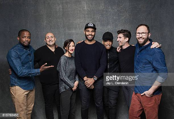 Jacob Latimore JD Dillard Alex Theurer Eric B Fleischman Seychelle Gabriel and Dule Hill from the film 'Sleight' pose for a portrait at the 2016...