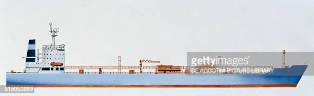 Jacob Maersk oil tanker Denmark drawing