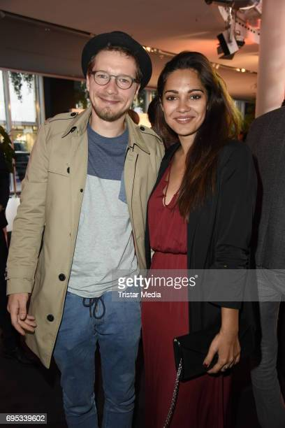 Jacob Matschenz and Nilam Farooq attend the Cocktail prolonge to the SemiFinal Round of Judging of the International Emmy Awards 2017 on June 12 2017...