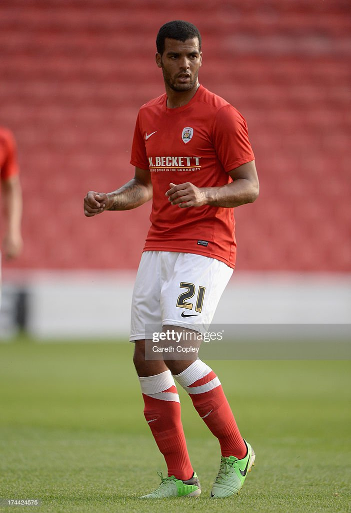 Jacob Mellis of Barnsley during a Pre Season Friendly between Barnsley and Bordeaux at Oakwell Stadium on July 25, 2013 in Barnsley, England.