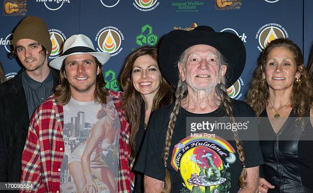 Jacob Micah Nelson Lukas Nelson Amy Nelson Willie Nelson and Annie D'Angelo attend Hard Rock International's Wille Nelson Artist Spotlight Benefit...