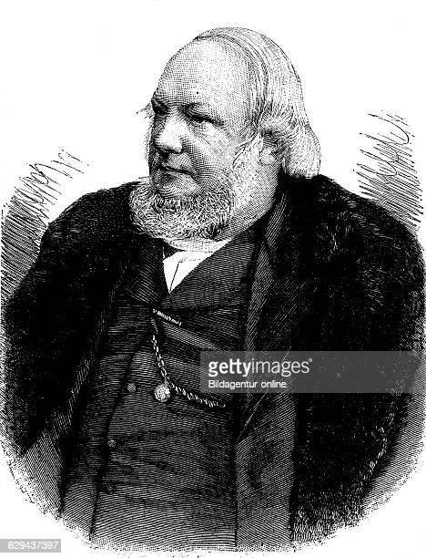 Jacob moleschott 1822 1893 dutch physiologist and physician historical illustration circa 1893