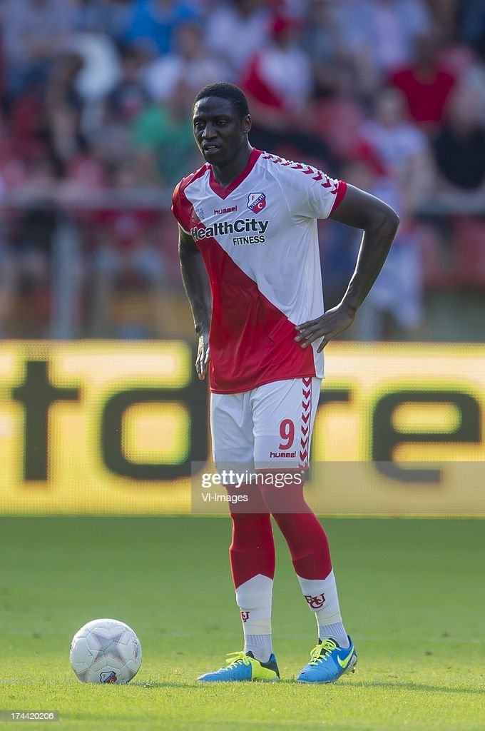 Jacob Mulenga of FC Utrecht during the Europa League second qualifying round match between FC Utrecht and FC Differdange on July 25, 2013 in Utrecht, The Netherlands.