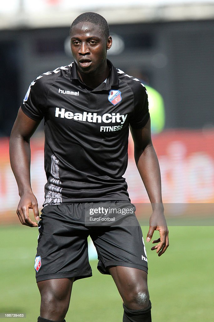 Jacob Mulenga of FC Utrecht in action during the Dutch Eredivisie match between AZ Alkmaar and FC Utrecht held on April 14, 2013 at the AFAS Stadion in Alkmaar, Netherlands. AZ Alkmaar won the match with 6-0.