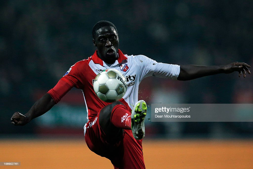 Jacob Mulenga of Utrecht controls the ball during the Eredivisie match between NEC Nijmegen and FC Utrecht at the McDOS Goffertstadion on November 24, 2012 in Nijmegen, Netherlands.