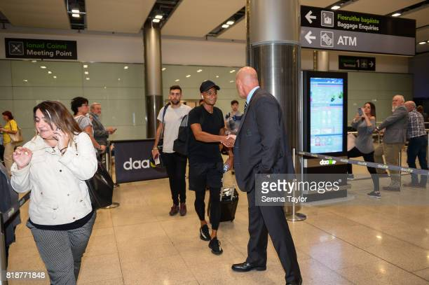 Jacob Murphy arrives at Dublin Airport to Join Newcastle United during their pre season training camp on July 17 in Maynooth Ireland