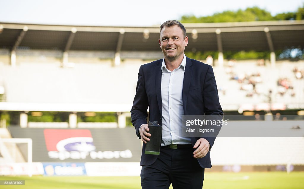 Jacob Nielsen, CEO of AGF Aarhus prior to the Danish Alka Superliga match between AGF Aarhus and OB Odense at Ceres Park on May 26, 2016 in Aarhus, Denmark.