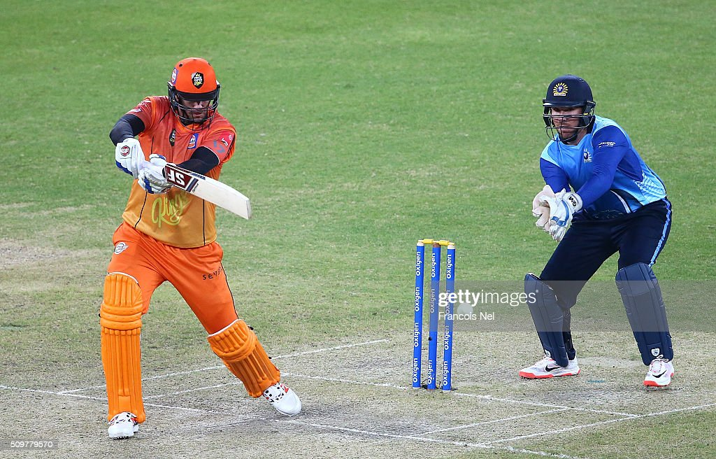 <a gi-track='captionPersonalityLinkClicked' href=/galleries/search?phrase=Jacob+Oram&family=editorial&specificpeople=171456 ng-click='$event.stopPropagation()'>Jacob Oram</a> of Virgo Super Kings bats during the Oxigen Masters Champions League Semi Final match between Leo Lions and Virgo Super Kings at Dubai International Cricket Stadium on February 12, 2016 in Dubai, United Arab Emirates.