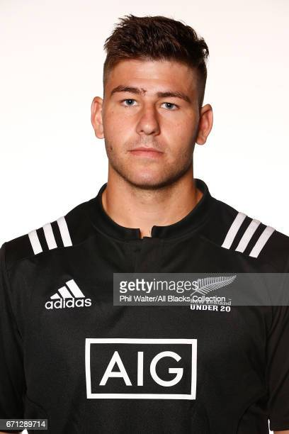 Jacob Pierce poses during the New Zealand U20 Headshots Session at Novotel Auckland Airport on April 22 2017 in Auckland New Zealand