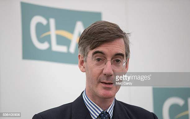 Jacob Rees Mogg MP for North East Somerset speaks at a CLA business breakfast in support of a vote to leave the European Union in the referendum at...
