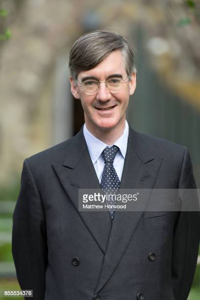 Jacob ReesMogg MP for North East Somerset poses for a picture following a talk called Faith in the Future at the Cornerstone Church on September 29...