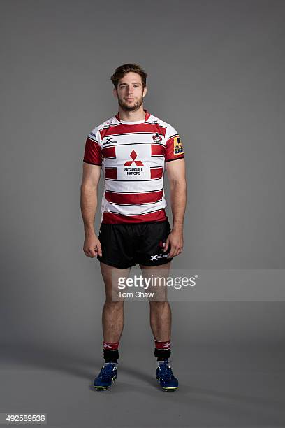 Jacob Rowan of Gloucester poses for a picture during the Gloucester Rugby Photocall at Hartpury College on September 18 2015 in Hartpury England