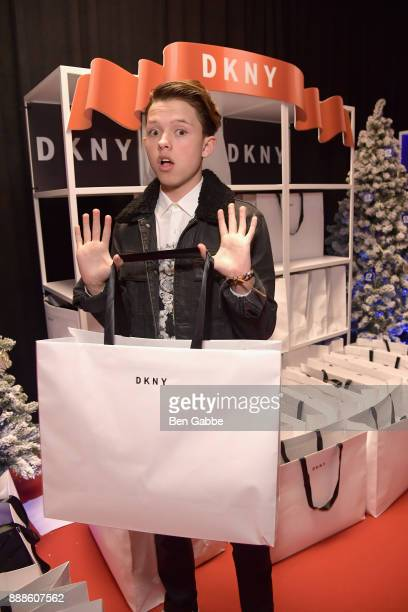 Jacob Sartorius attends the DKNY gift lounge at Jingle Ball on December 8 2017 in New York City