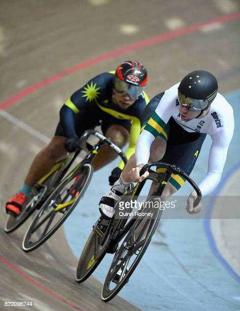 Jacob Schmid of Australia competes in the Elite Men's Sprint during the International Track Cycling Grand Prix Series at Darebin International Sports...
