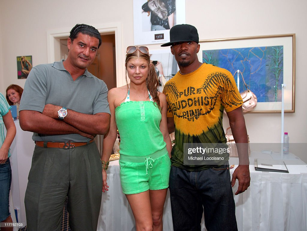 Jacob The Jeweler, Fergie of Black Eyed Peas and <a gi-track='captionPersonalityLinkClicked' href=/galleries/search?phrase=Jamie+Foxx&family=editorial&specificpeople=201715 ng-click='$event.stopPropagation()'>Jamie Foxx</a> at Jacob & Co.