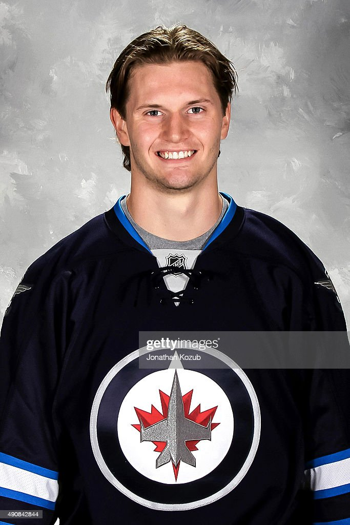 <a gi-track='captionPersonalityLinkClicked' href=/galleries/search?phrase=Jacob+Trouba&family=editorial&specificpeople=8050718 ng-click='$event.stopPropagation()'>Jacob Trouba</a> of the Winnipeg Jets poses for his official headshot for the 2015-2016 season on September 17, 2015 at the MTS Centre in Winnipeg, Manitoba, Canada.