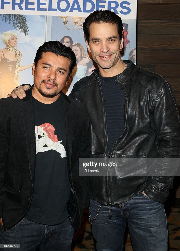 <a gi-track='captionPersonalityLinkClicked' href=/galleries/search?phrase=Jacob+Vargas&family=editorial&specificpeople=2180086 ng-click='$event.stopPropagation()'>Jacob Vargas</a> and Jonathan Schaech attend the 'Freeloaders' Premiere held at Sundance Cinema on January 7, 2013 in Los Angeles, California.