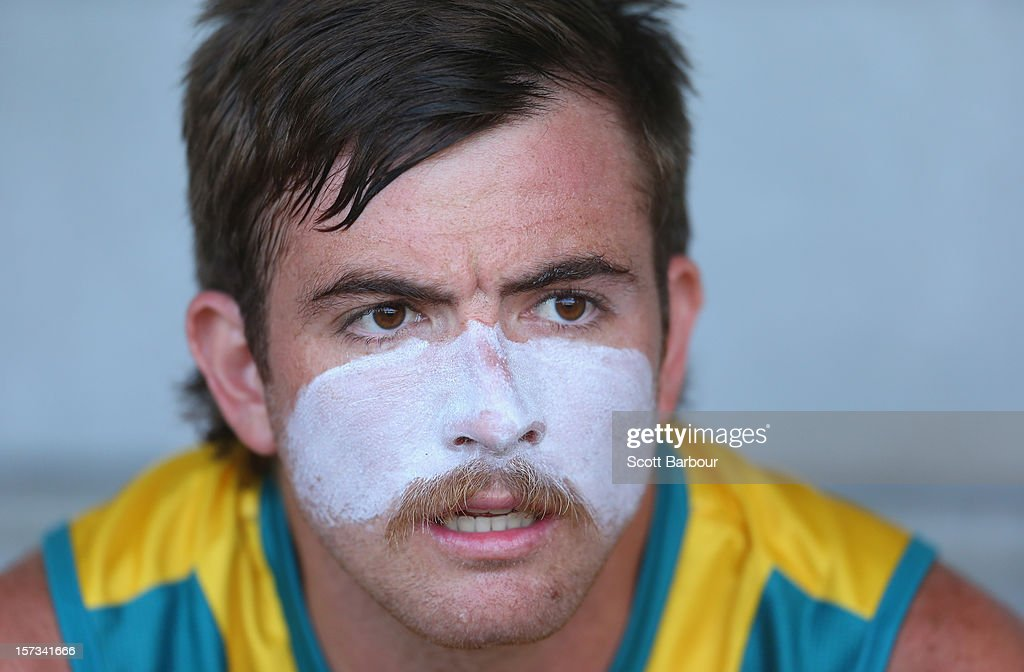 Jacob Whetton of Australia looks on before the match between Australia and the Netherlands during day two of the Champions Trophy on December 2, 2012 in Melbourne, Australia.