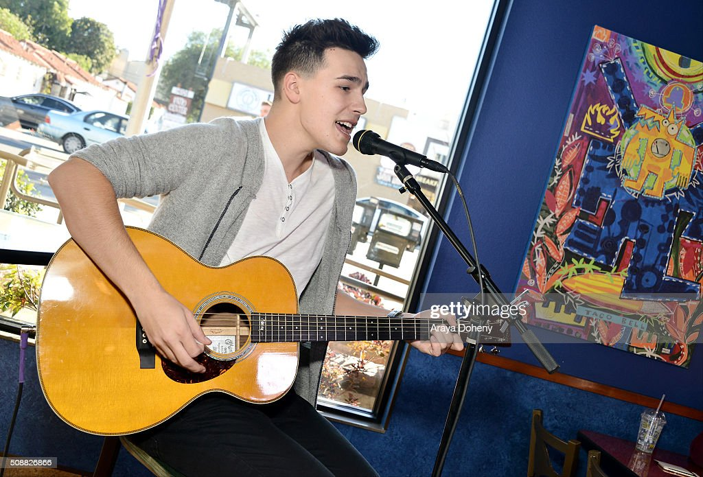 Jacob Whitesides gives a surprise performance in Los Angeles, CA at Taco Bells first ever pre-order event on February 6, 2016.