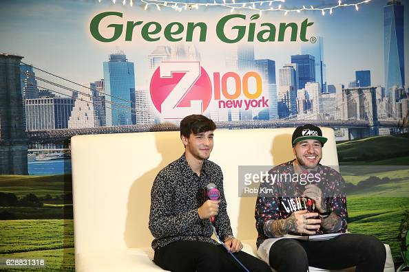 Jacob Whitesides speaks with Mo' Bounce at Z100 CocaCola All Access Lounge at Z100's Jingle Ball 2016 Presented by Capital One preshow at Hammerstein...