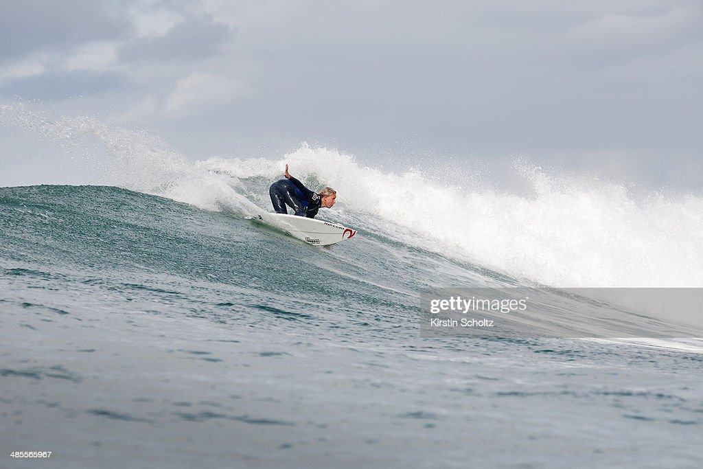 Jacob Willcox of Australia placed third in his Ripcurl Pro Bells Beach Round 1 heat on April 19, 2014 in Bells Beach, Australia.