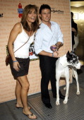 Jacob Young and guest during Broadway Barks 8 at Shubert Alley in New York City New York United States