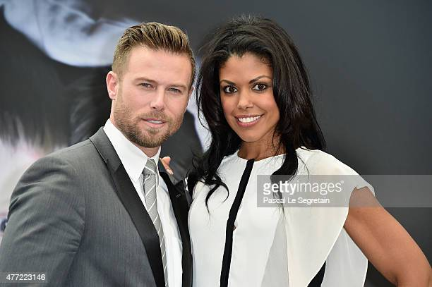 Jacob Young and Karla Mosley attend a photocall for the 'The Bold and the Beautiful' TV series on June 15 2015 in MonteCarlo Monaco