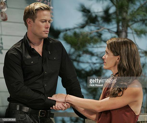 CHILDREN Jacob Young and Melissa Claire Egan in a scene that airs the week of August 9 2010 on ABC Daytime's 'All My Children' 'All My Children' airs...