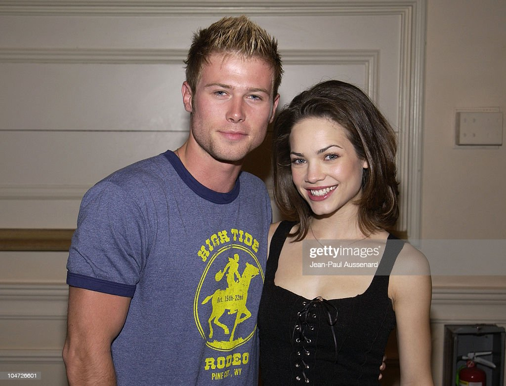 <a gi-track='captionPersonalityLinkClicked' href=/galleries/search?phrase=Jacob+Young&family=editorial&specificpeople=663641 ng-click='$event.stopPropagation()'>Jacob Young</a> & Rebecca Herbst during ABC's 'General Hospital' Fan Day at Sportsman's Lodge in Studio City, California, United States.