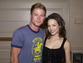 Jacob Young Rebecca Herbst during ABC's 'General Hospital' Fan Day at Sportsman's Lodge in Studio City California United States